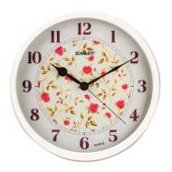 Часы настенные Scarlett SC-WC1002I, круг, Белые с рисунком Розы, Белая рамка, 31,5x31,5x5,2 см, SC - WC1002I