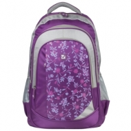 Рюкзак Brauberg для старшеклассников/студентов/молодежи, Цветочный узор, 25 литров, 30х18х49 см, 225288