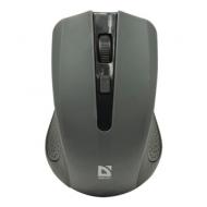 Мышь беспроводная Defender Accura MM-935, 3 кнопки + 1 колесо-кнопка, оптическая, серая, 52936