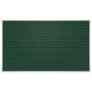 Доска для мела магнитная, 85x100 см, зеленая, в линию, алюминиевая рамка, EDUCATION 2х3, TKU8510L