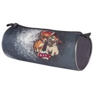 Пенал-тубус, печать на ткани, 'Cool Dog', 20х9 см, ПТ-02