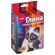 Набор для изготовления игрушки из глины Домашний котенок, глина, формы, краски, LORI, Пз/Гл-001