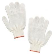 Перчатки хлопчатобумажные, Комплект 5 пар, 7,5 класс, 36-38 г, 166 текс, без ПВХ, Лайма стандарт, белые, 600804
