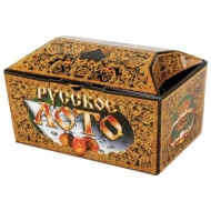 Игра настольная Русское лото в картонном ларце, 90 бочонков, жетоны, 24 карточки, 10 КОРОЛЕВСТВО, 00142