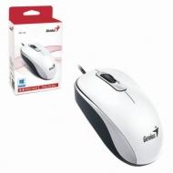 Мышь проводная Genius DX-110, USB, 2 кнопки + 1 колесо-кнопка, оптическая, белая, 31010116102