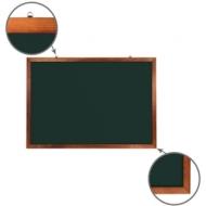 Доска для мела магнитная (100х150 см) Brauberg, Зеленая, деревянная окрашенная рамка, 236894