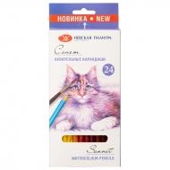 Карандаши акварельные Сонет, набор 24 цвета
