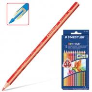 """Набор цветных карандашей """"Noris Club"""" Staedtler, трехгранные, 12 цветов, картонная коробка"""