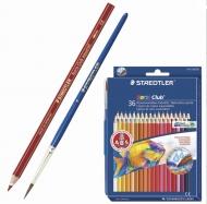 """Набор цветных акварельных карандашей Staedtler """"Noris Club"""" акварельные, 36 цветов с кистью, 144 10ND3603"""