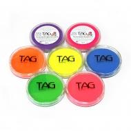 Профессиональный гипоаллергенный аквагрим TAG поштучно, неоновые цвета, 32 г