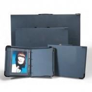 Портфолио на кольцах College А1Teloman для рисунков и документов, А1, серый, иск. кожа