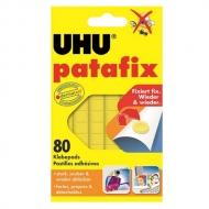 Клеящие подушечки UHU Patafix желтые многоразовые 80 шт