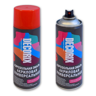 Аэрозольная краска акриловая универсальная DECORIX 520 мл натуральные цвета