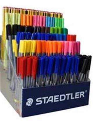 Дисплей настольный пластиковый с графитовыми карандашами + ручки