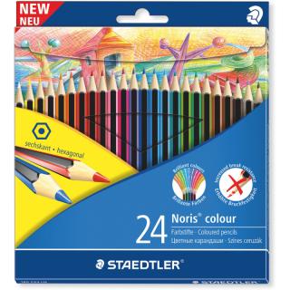Набор цветных карандашей Noris Color шестигранные,Wopex, 24 цвета