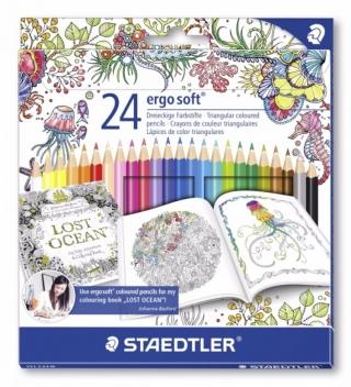 Набор цветных карандашей Noris Color шестигранные Wopex Johanna Basford, 24 цвета