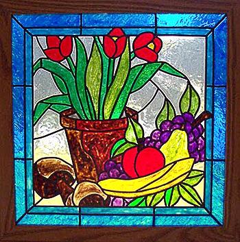 Красивые рисунки на стекле Построй свой Дом! 107