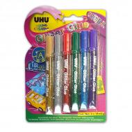 Клеящие блестки для декора любых поверхностей UHU Young Creativ' Glitter Glue Original