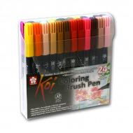 Набор акварельных маркеров-кистей Sakura Koi 24 цвета