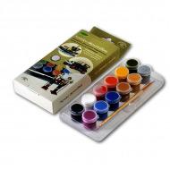 Акриловые краски для моделей АКВА-КОЛОР «Декор» мини-набор, глянцевые 12 цв. и кисть