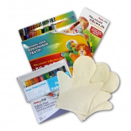 """Набор """"Кукольный театр"""" с тремя рукавичками и мелками по ткани Fabric Fun Pentel"""